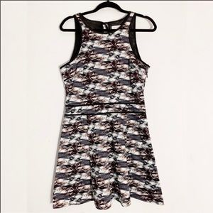 WAYF Abstract Sleeveless Fit & Flare Dress